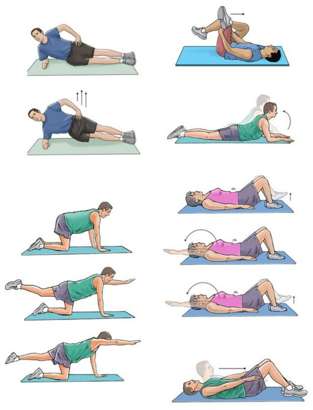 Лечебная физкультура при остеохондрозе позвоночника (ЛФК)