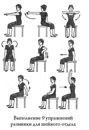 Гимнастика от шейного остеохондроза в домашних условиях - видео