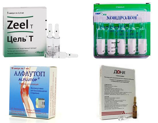 Уколы для суставов - виды и названия лучших препаратов от боли