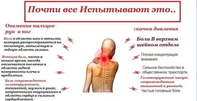 Головная боль при остеохондрозе шейного отдела - симптомы и лечение