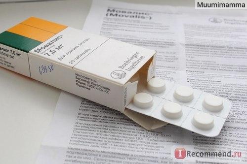 Мовалис - инструкция по применению, цена, отзывы, аналоги, уколы, таблетки