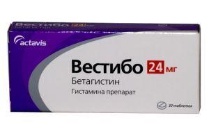 Вестибо - инструкция по применению, цена, 16 и 24 мг, отзывы, аналоги, таблетки