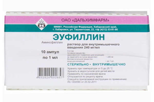 Эуфиллин: инструкция по применению, цена, отзывы, аналоги, от чего