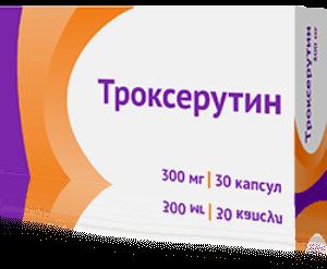 Троксерутин - инструкция по применению, отзывы, аналоги, цена