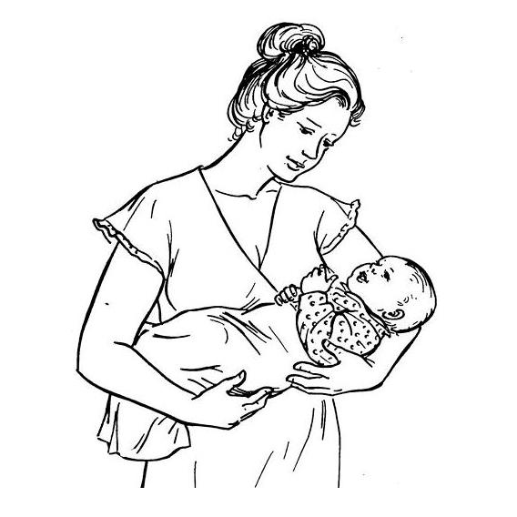 Как правильно держать новорожденного?