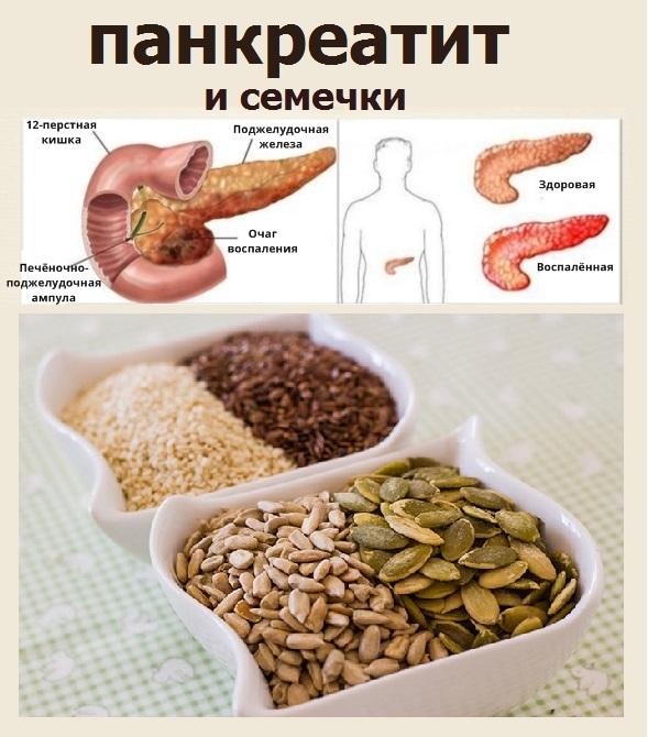 Можно ли есть семечки при панкреатите